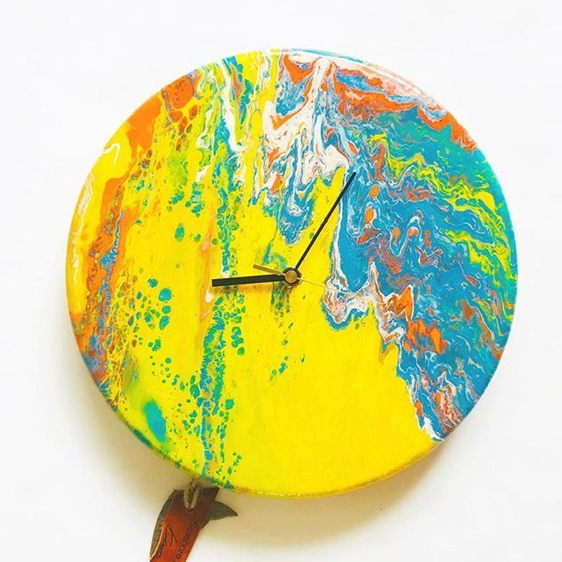 DROPPING PAINT CLOCK  4