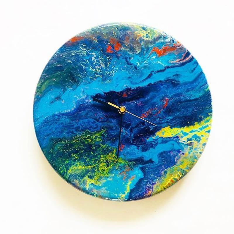 DROPPING PAINT CLOCK  3