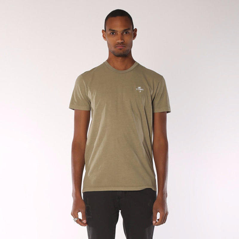 PALM LOGO TEE - ARMY GREEN  Thrills Co.