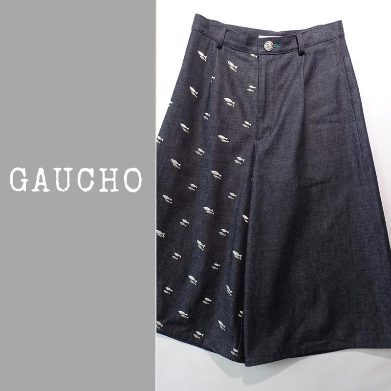 DENIM GAUCHO PANTS