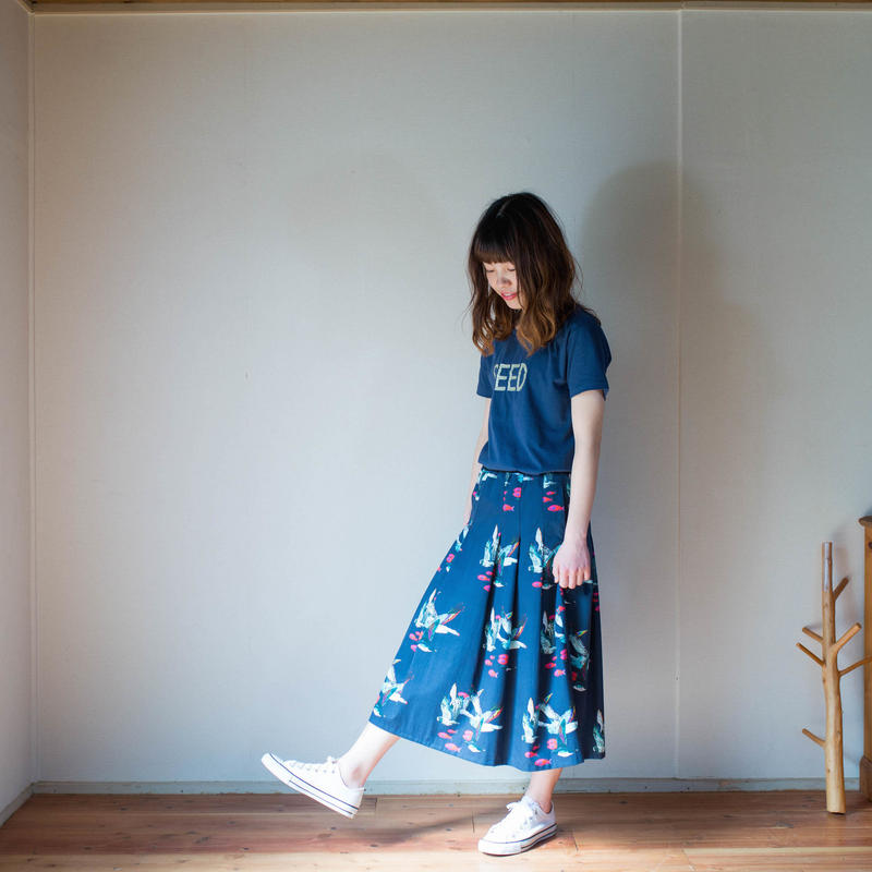 ミモレ丈*Pleats Skirt プリーツスカート [KAKERU]