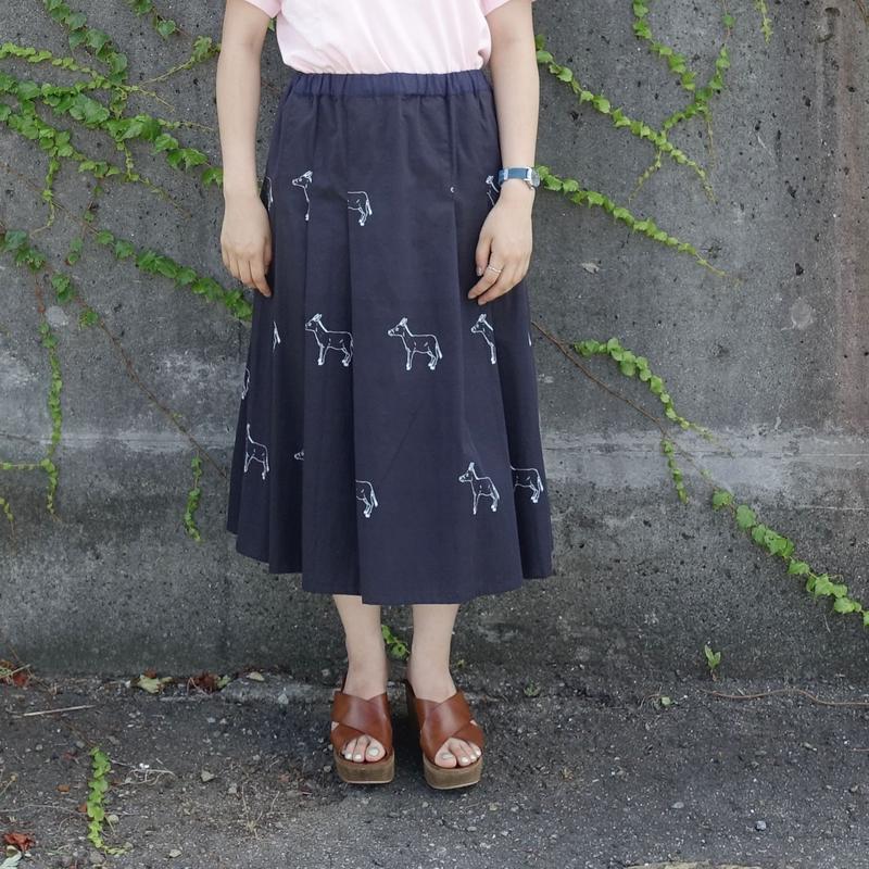 Pleats Skirt プリーツスカート [ROBA/Black big]