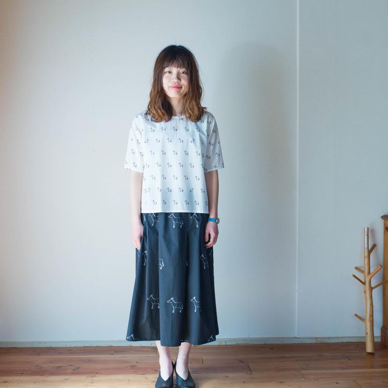 マキシ丈*Pleats Skirt プリーツスカート [ROBA/Black big]