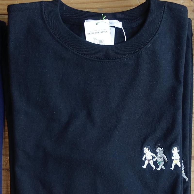 [受注製作]おすもうさん刺繍長袖Tシャツ/ブラック