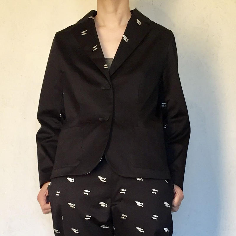 STRETCH COTTON  TAILORED JACKET