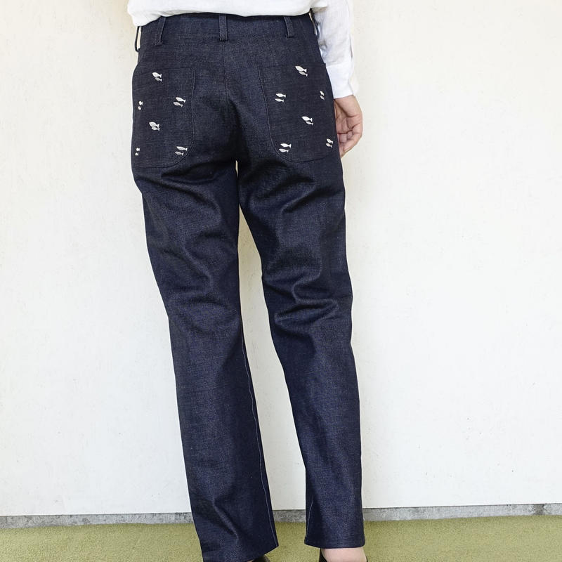 DENIM STRAIGHT PANTS