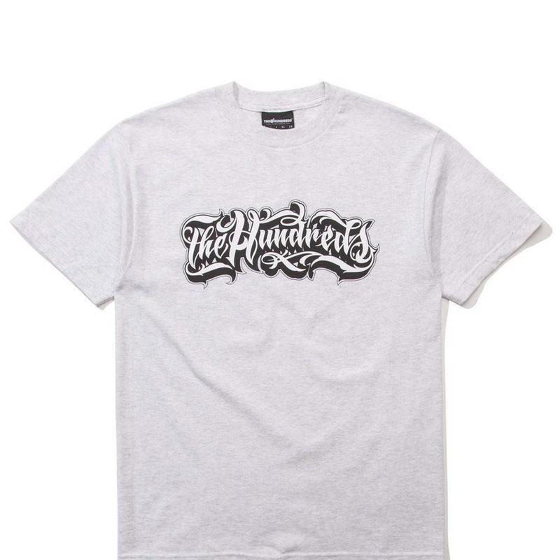 The Hundreds Wordmark T-Shirt ASH HEATHER