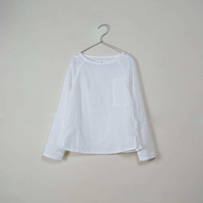 Lady's Gauze Raglan Long Sleeve B-Neck Sht.