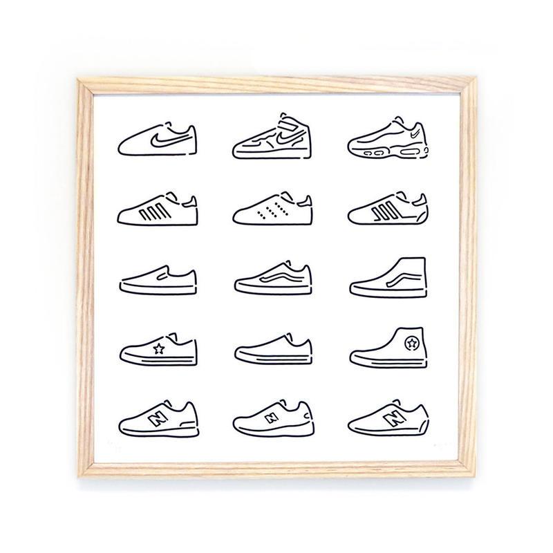 Silk Screen - Sneakers / Black