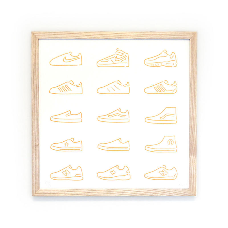 Silk Screen - Sneakers/ Gold