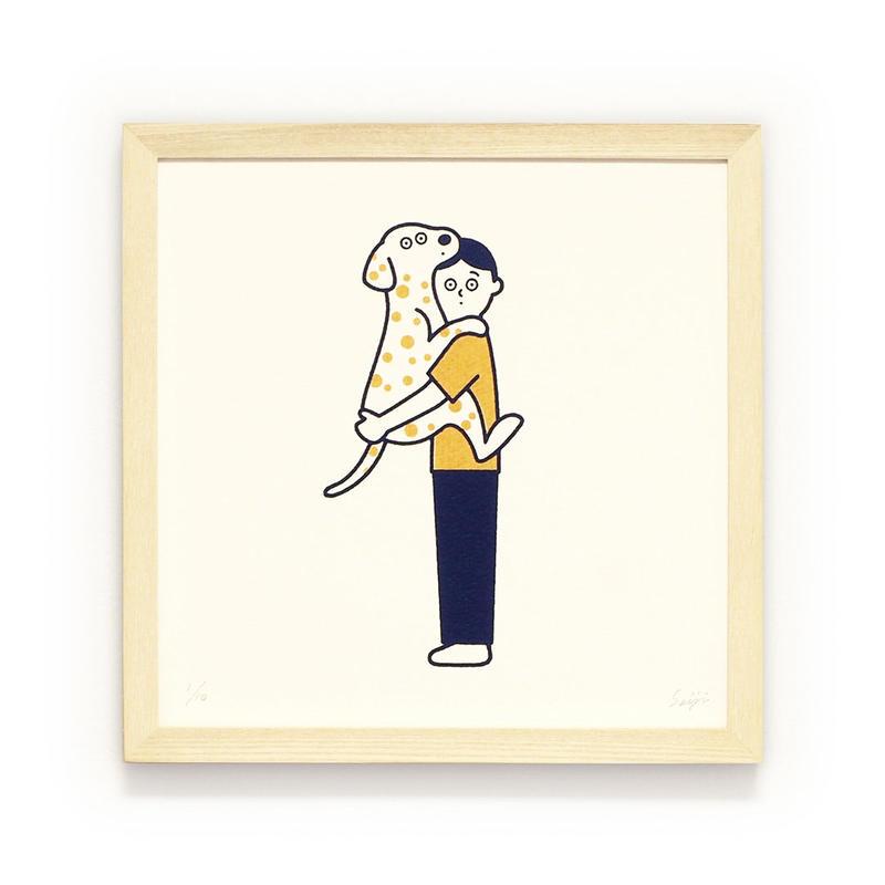 Silk Screen - 抱っこ犬