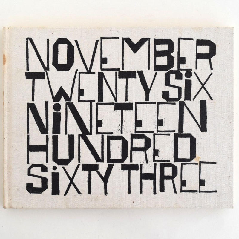 NOVEMBER TWENTY SIX NINETEEN HUNDRED SIXTY THREE