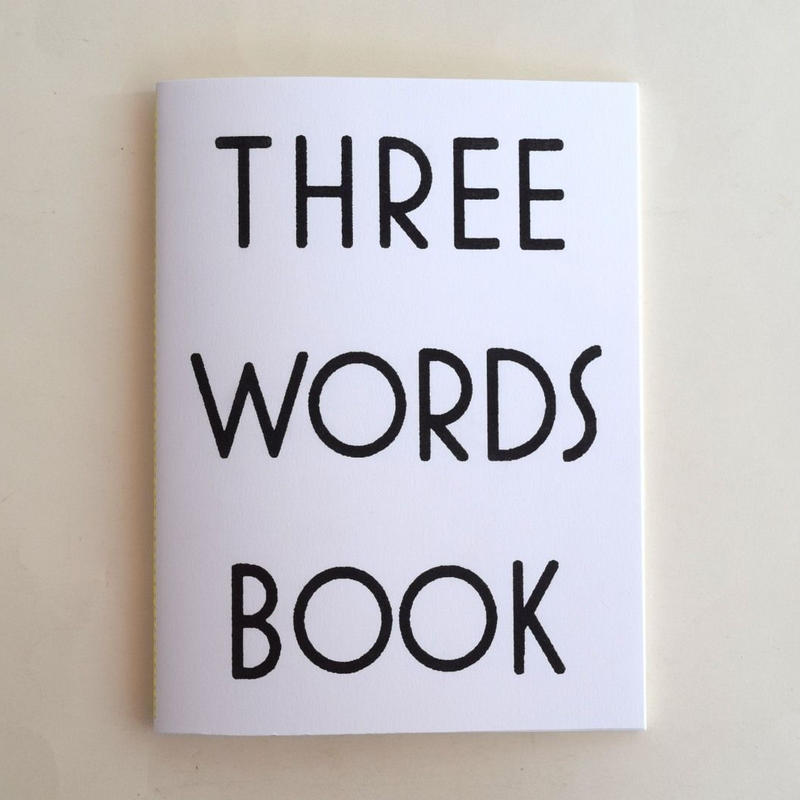 THREE WORDS BOOK