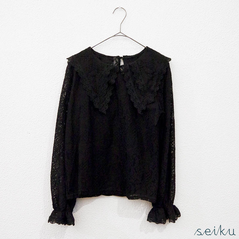 Double Collar Lace Pullover