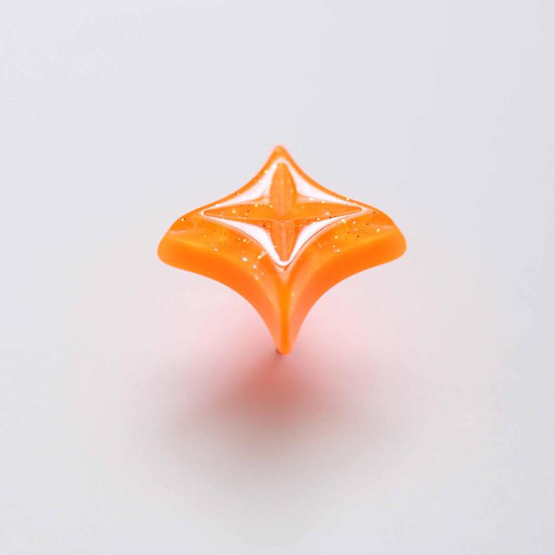 キラキラピアス(オレンジ)