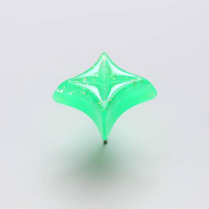 キラキラピアス(ネオングリーン)