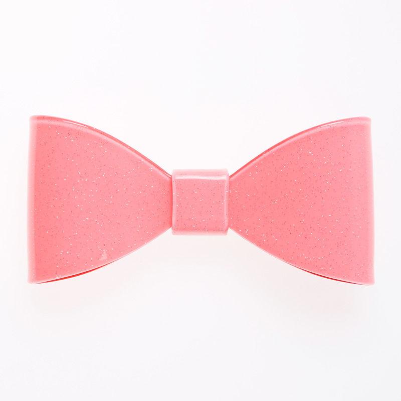 大きなりぼんバレッタ ピンク