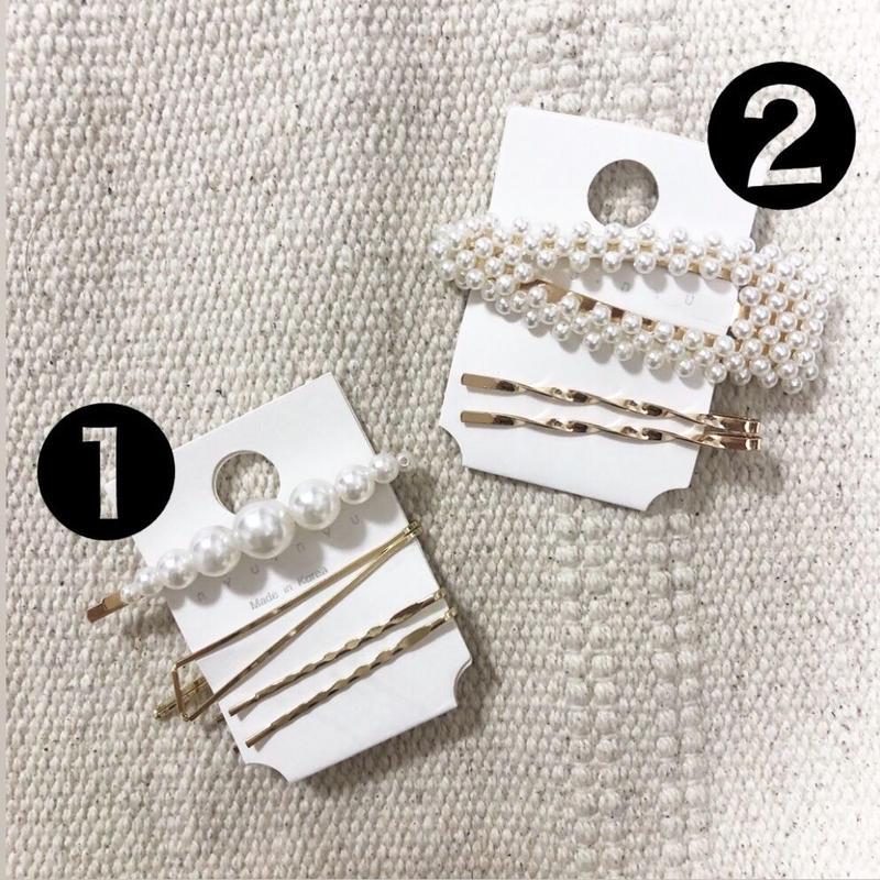 Pearl hair accessory set