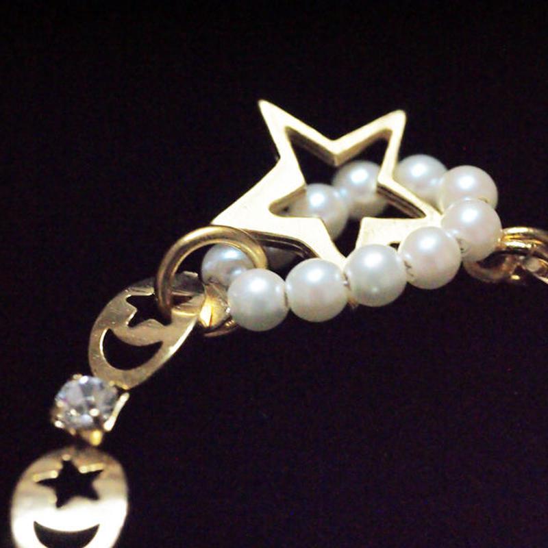 LOVE運アップの月と星のギリシア神話ブレスレット