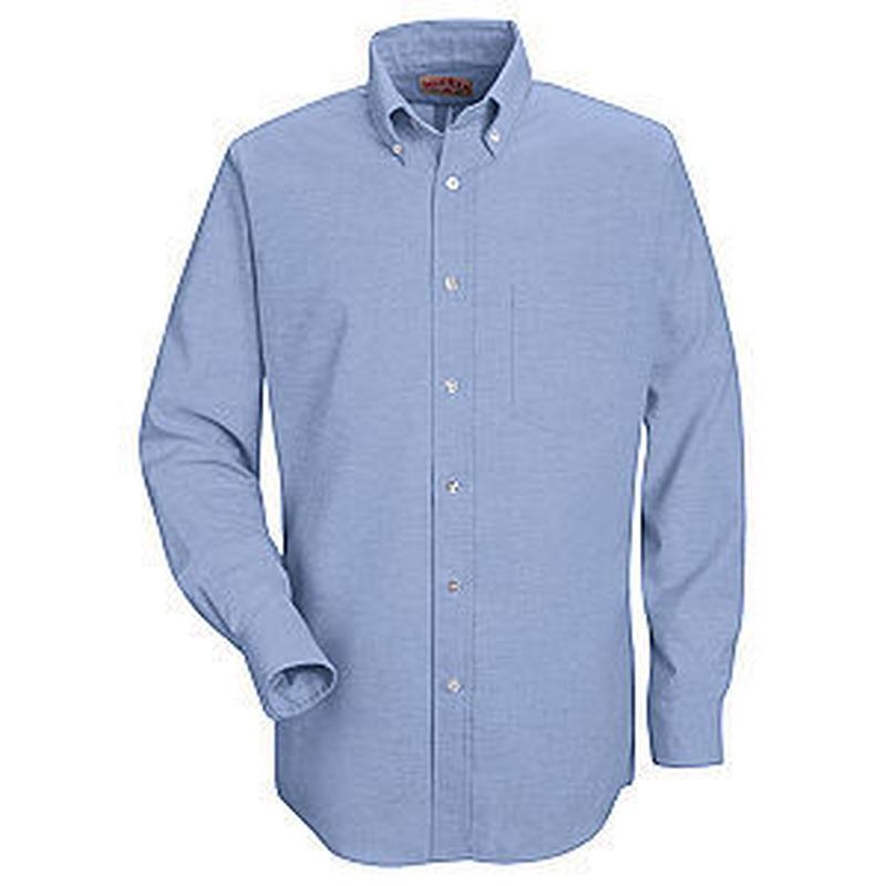 RED KAP Men's Button-Down Solid Shirt ( Light Blue )
