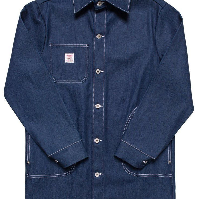 Pointer Brand Indigo Denim Long Jacket with 1/2 Circle Pockets ( Size M , L )