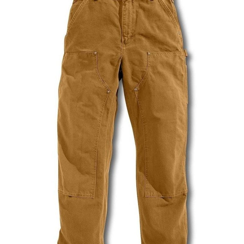 Carhartt Washed-Duck Double-Front Work Dungaree ( Brown )
