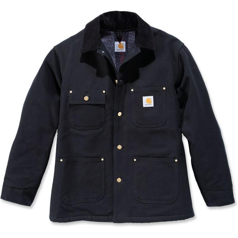 Carhartt Duck Chore Coat ( Blanket Lined ) Black