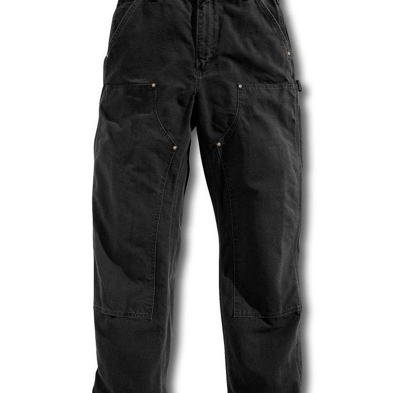 Carhartt Washed-Duck Double-Front Work Dungaree ( Black )
