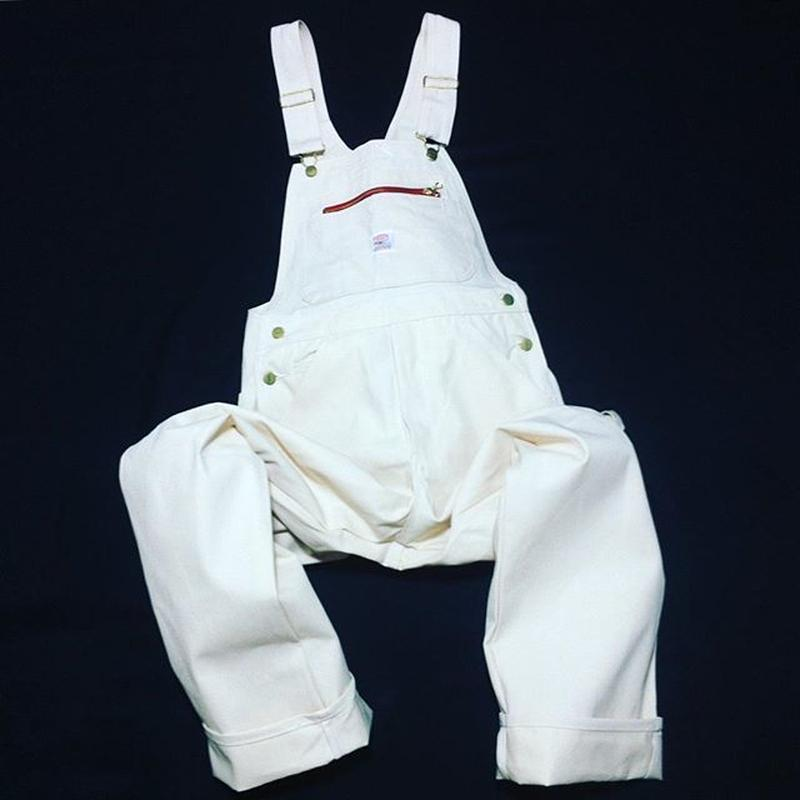 Pointer Brand White Drill High Back Overalls