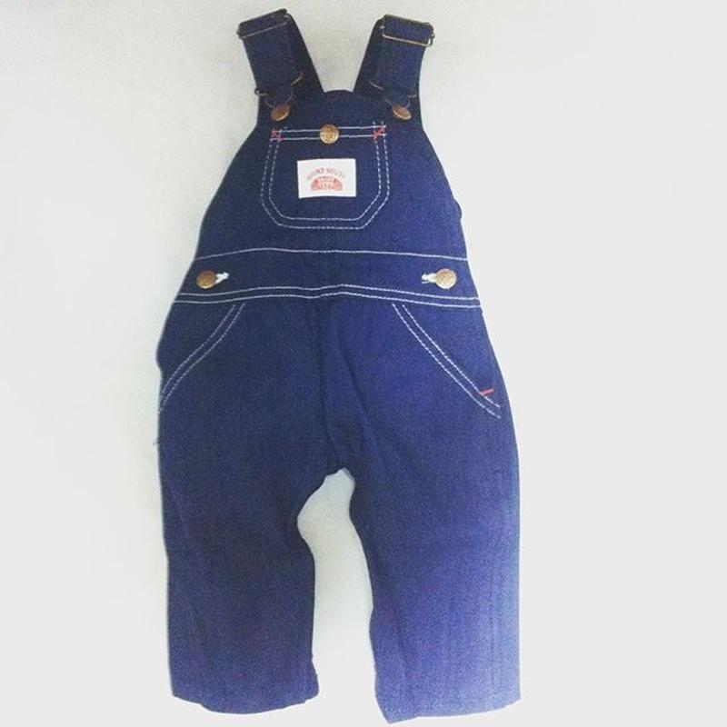 Round House Made in USA Kids Premium Blue Denim Bib Overall