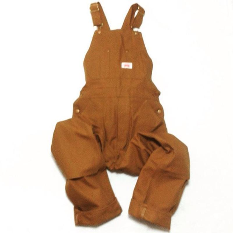 Round House Made in USA Heavy Duty Brown Duck Bib Overalls