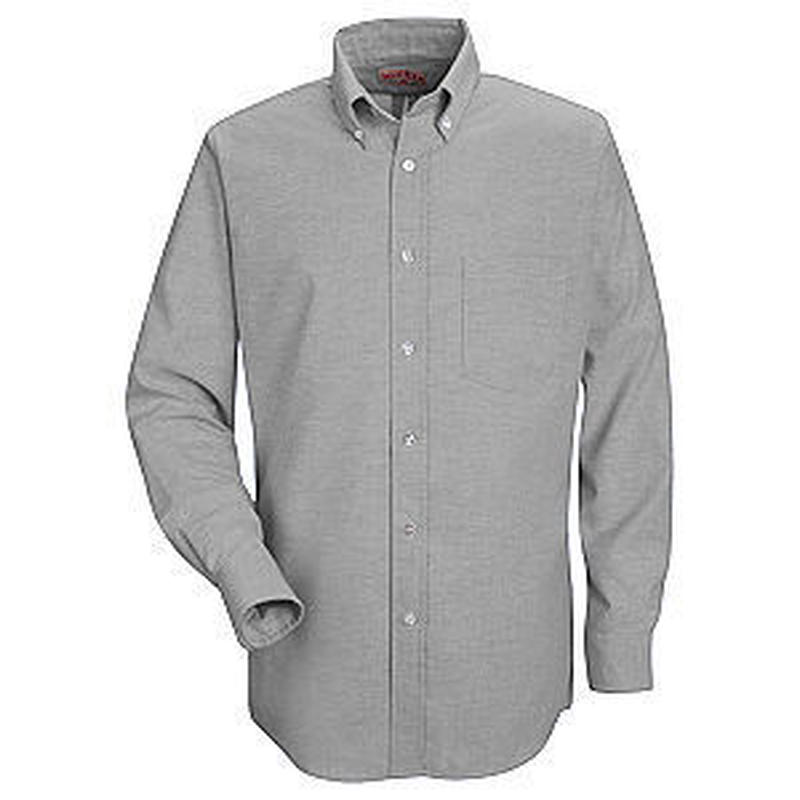 RED KAP Men's Button-Down Solid Shirt ( Grey )