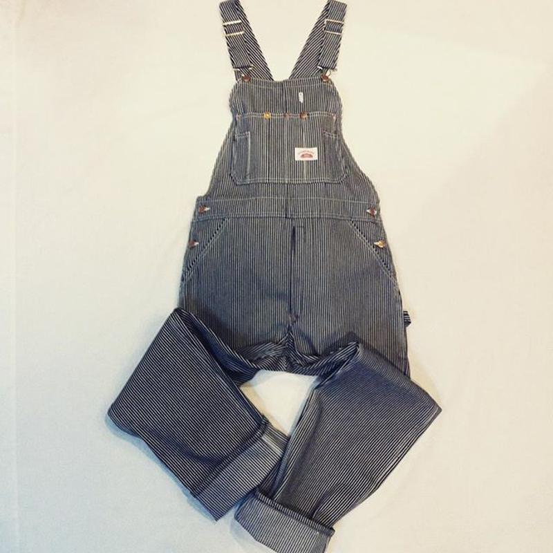 Round House Made in USA Vintage Hickory Stripe Bib Overalls