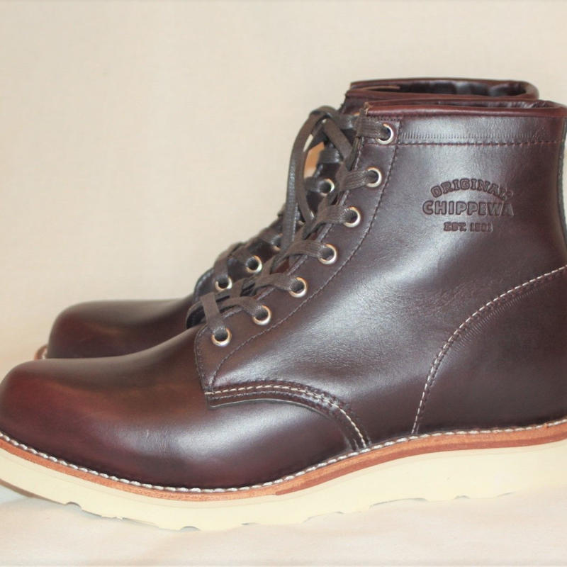 "Chippewa 6"" Cordovan General Utility Plain Toe Wedge Boots  のコピー"