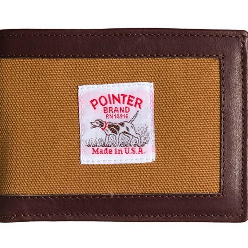 Pointer Brand Brown Duck Wallet with Leather
