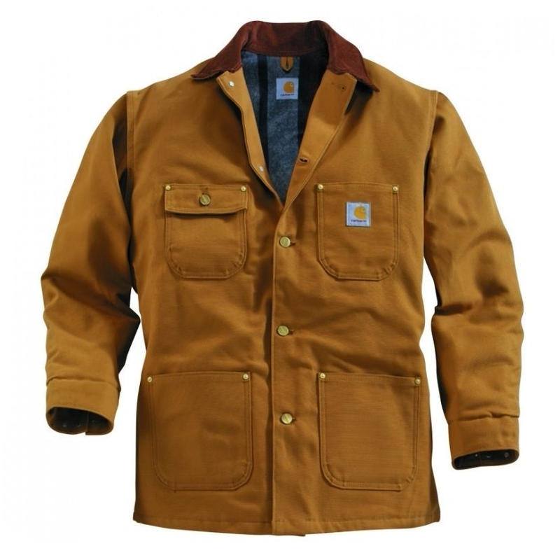 Carhartt Duck Chore Coat ( Blanket Lined ) Brown