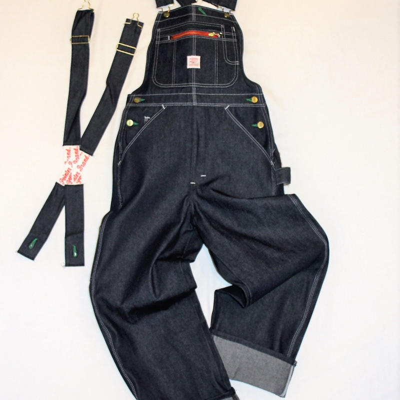 Pointer Brand Indigo Denim Low Back Overalls