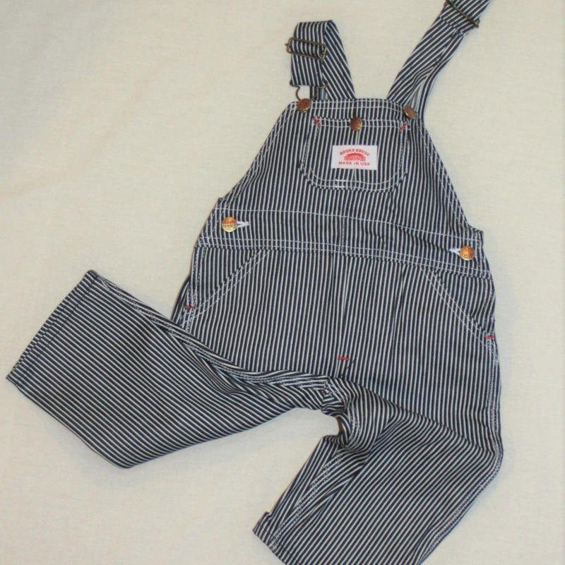 Round House Made in USA Kids Authentic Premium Stripe Bib Overall