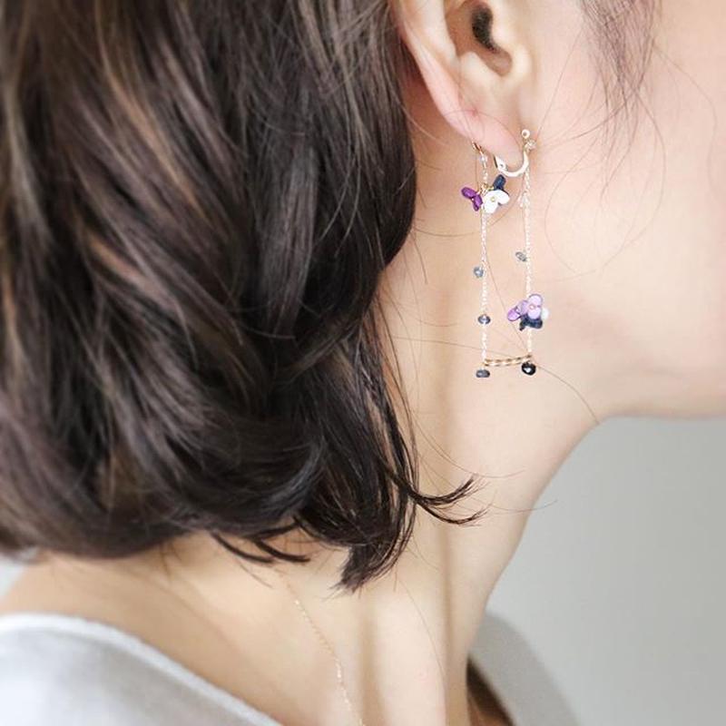 SWING Iong Earrings/Ear clips