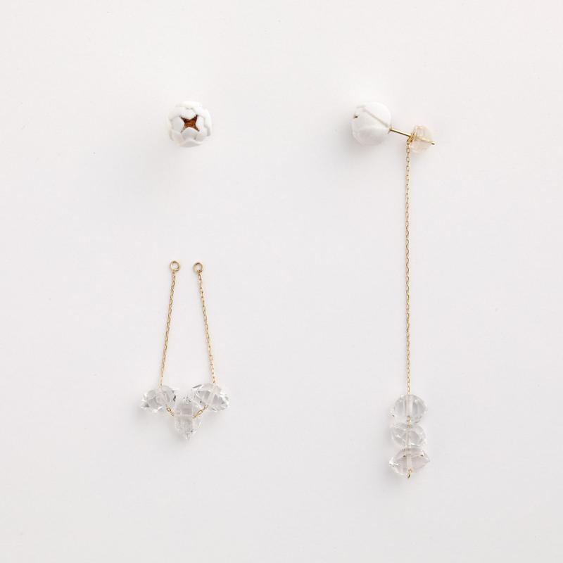 Tsubomi  Earrings   - クォーツ 3 - ピアス