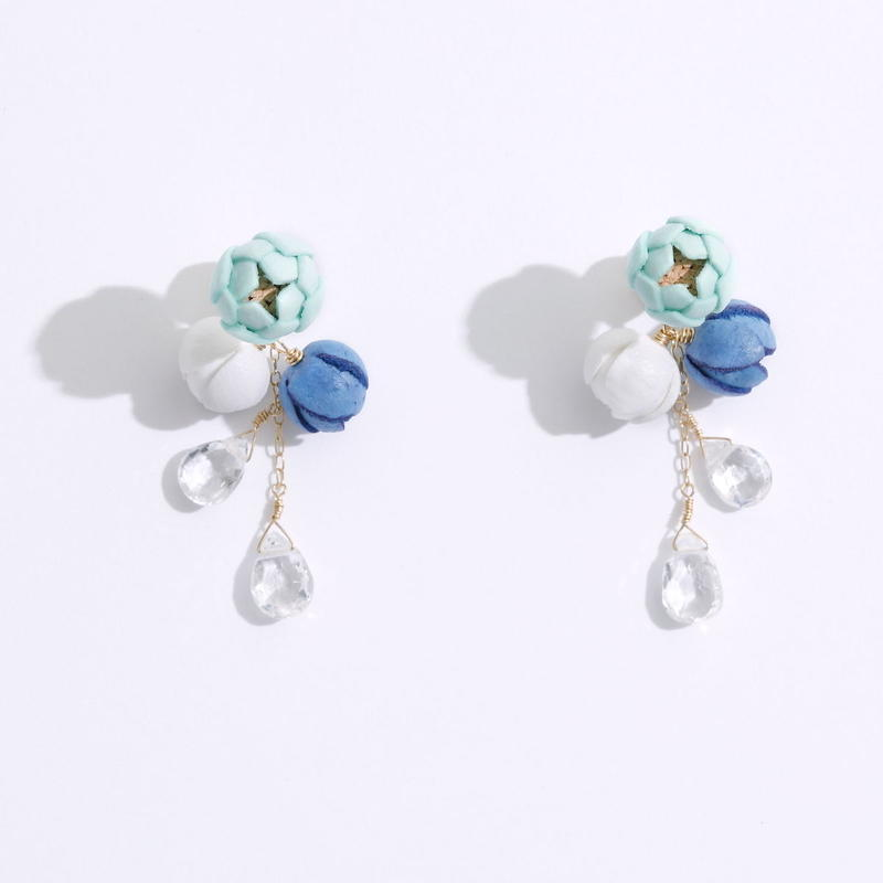Marine Tsubomi Earrings ピアス