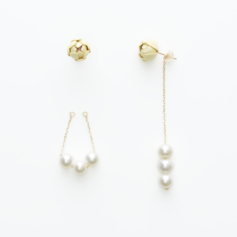 Tsubomi  Earrings   - peal 3 - ピアス