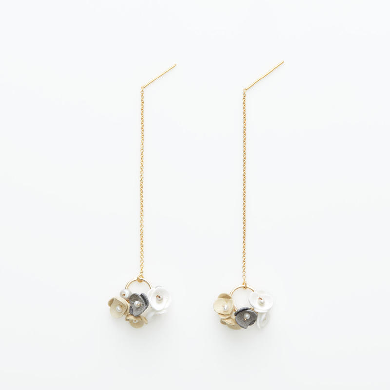 Mari Earrings -beige- ピアス