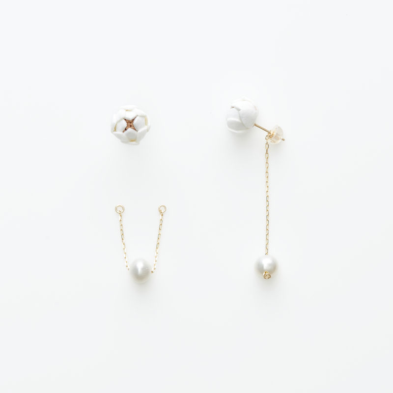 Tsubomi  Earrings   - peal 1 -