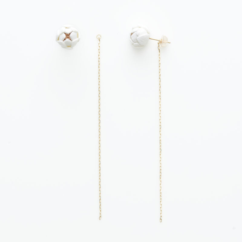 Tsubomi  Earrings   - long - ピアス