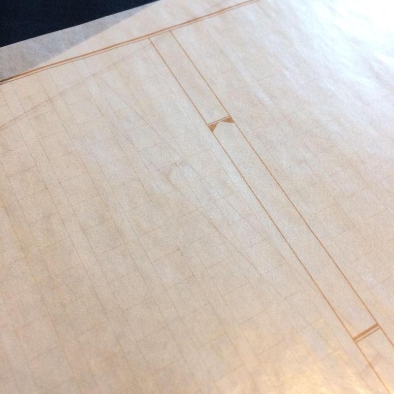 原稿用紙柄のグラシンペーパー〈限定品〉 10枚セット