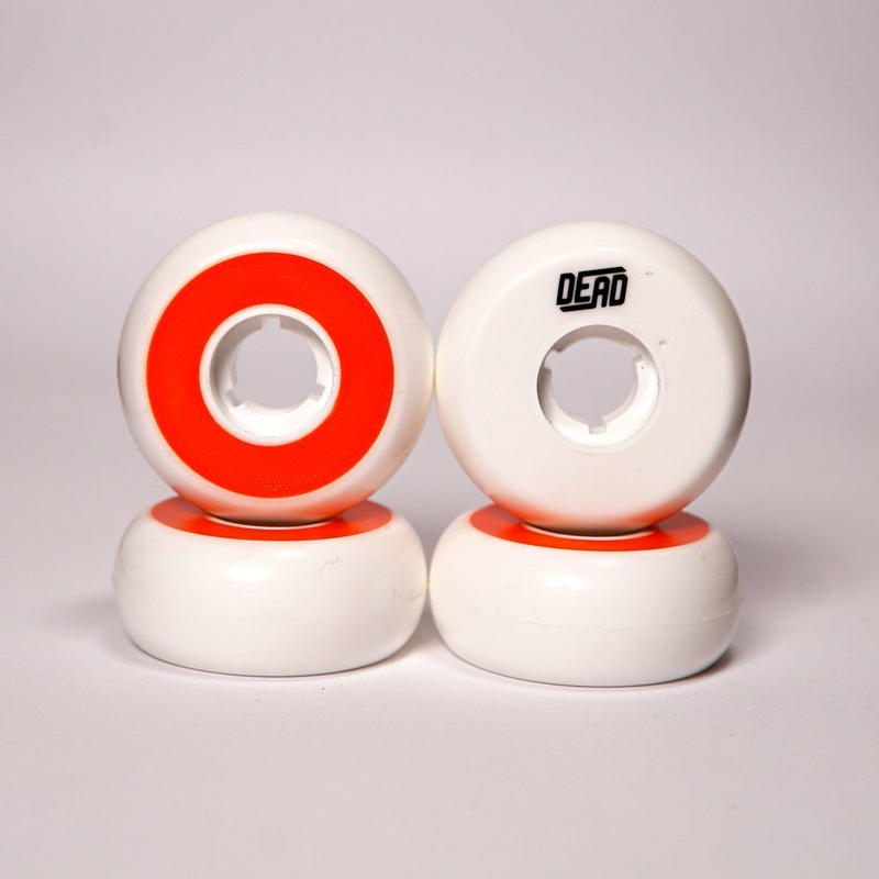 DEAD Wheels TeamWhite  Orange RING 58mm95a 4個セット