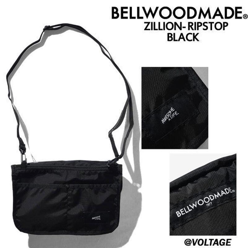 BELLWOODMADE ベルウッドメイド ZILLION-RIPSTOP BLACK ショルダーバッグ バッグ 男女兼用