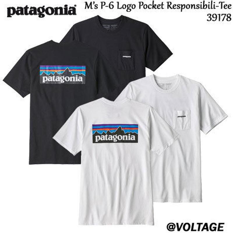 パタゴニア patagonia M's P-6 Logo Pocket Responsibili-Tee 39178 メンズ・P-6ロゴ・ポケット・レスポンシビリティー 正規品 2019 春モデル