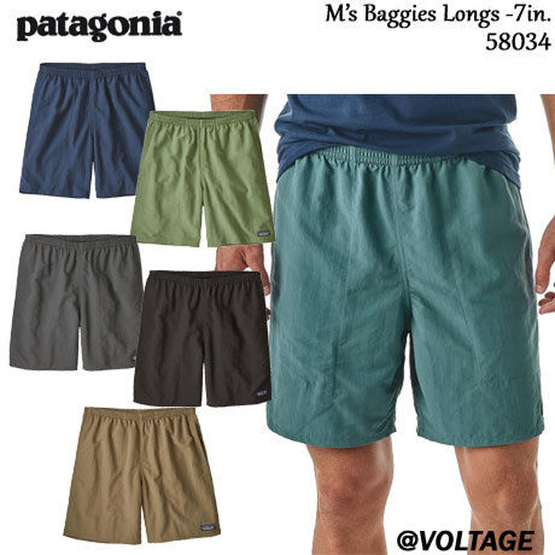 パタゴニア patagonia M's Baggies Longs - 7 in 58034 メンズ・バギーズ・ロング 7インチ 正規品 2019 春モデル